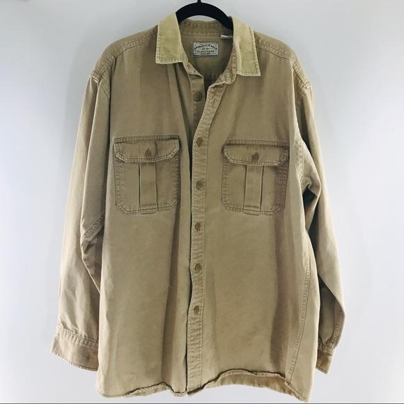 VTG American Eagle Khaki Cotton Button Down